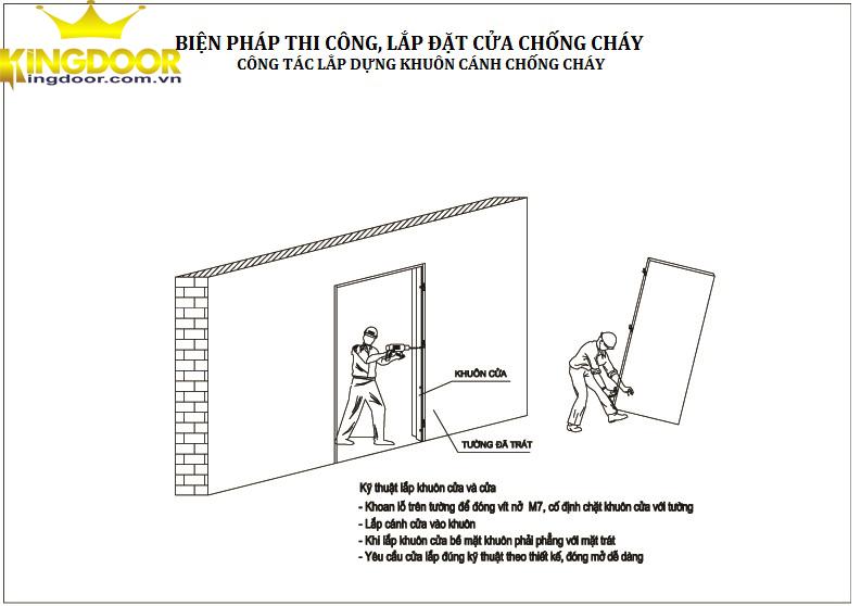 cách lắp đặt cửa thép chống cháy kingdoor