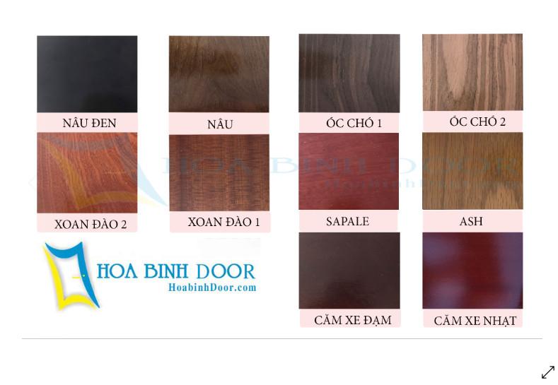 Bảng màu cửa gỗ hdf veneer