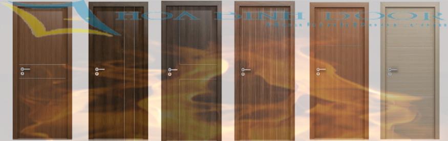 cửa gỗ chống cháy phủ laminate