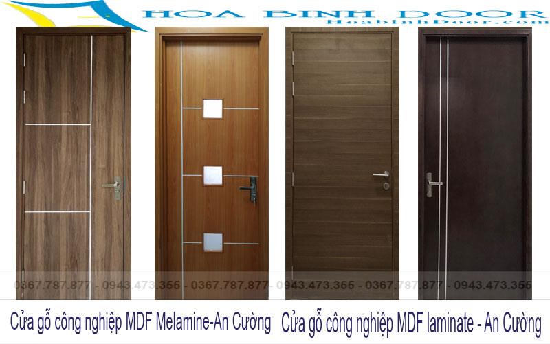 cửa gỗ công nghiệp mdf melamine an cường