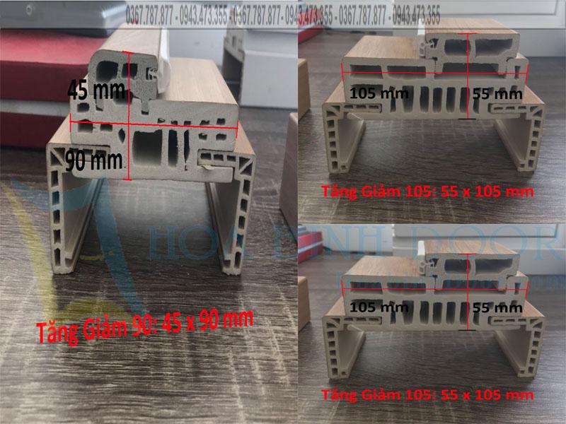 khung bao tăng giảm cửa nhựa composite